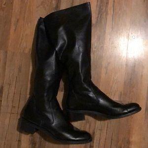 Franco Sarto Knee High Black Boots Size 10